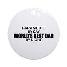 World's Best Dad - Paramedic Ornament (Round)