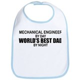 World's Best Dad - Mechanical Engineer Bib
