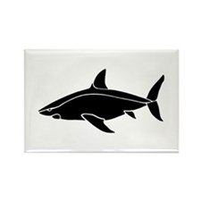 Great White Shark Rectangle Magnet (100 pack)