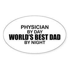 World's Best Dad - Physician Decal