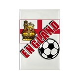 England World Soccer Team Rectangle Magnet
