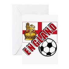 England World Soccer Team Greeting Cards (Pk of 10