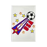 USA Soccer Team Rectangle Magnet (100 pack)