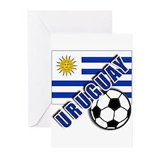 URUGUAY Soccer Team Greeting Cards (Pk of 10)
