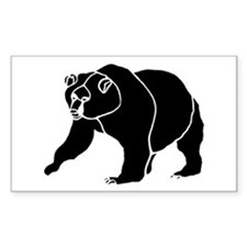Grizzly Bear Rectangle Decal