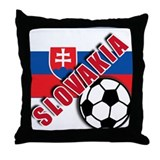 World Soccer Slovakia Team T-shirts Throw Pillow