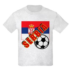 World Soccer SERBIA Team T-shirts Kids Light T-Shi