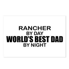 World's Best Dad - Rancher Postcards (Package of 8