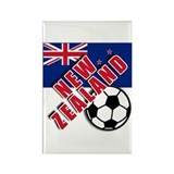 NEW ZEALAND Soccer Rectangle Magnet