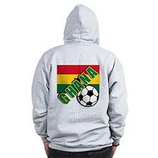 World Soccer GHANA Zip Hoodie