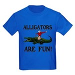 ALLIGATORS ARE FUN ! Kids Dark T-Shirt