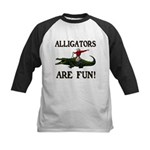 ALLIGATORS ARE FUN ! Kids Baseball Jersey