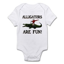 ALLIGATORS ARE FUN ! Infant Bodysuit