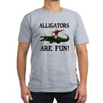 ALLIGATORS ARE FUN ! Men's Fitted T-Shirt (dark)