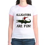 ALLIGATORS ARE FUN ! Jr. Ringer T-Shirt