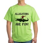 ALLIGATORS ARE FUN ! Green T-Shirt