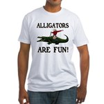 ALLIGATORS ARE FUN ! Fitted T-Shirt