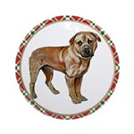 Mastiff Ornament (Round)