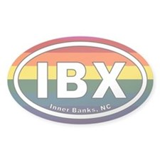 IBX Inner Banks NC Euro Oval Sticker with Rainbow