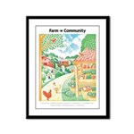 Farm to Community - Framed Panel Print
