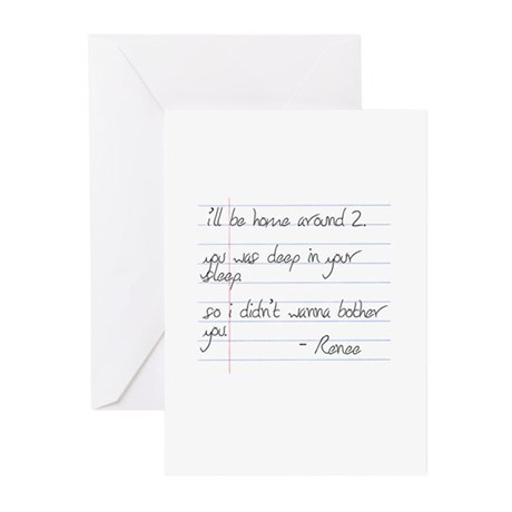 LB Fam Renee Letter Greeting Cards (Pk of 10)