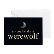 Boyfriend Werewolf V3 Greeting Card