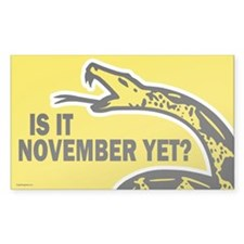 Is it November Yet? Decal