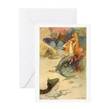 Vintage Mermaid Greeting Card