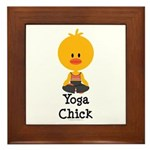 Yoga Chick Framed Tile