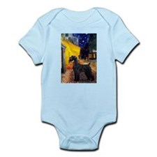 Cafe & Giant Schnauzer Infant Bodysuit