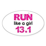 Run like a girl  Aufkleber
