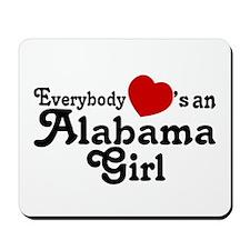 Everybody Hearts an Alabama G Mousepad