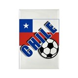 World Soccer CHILE Rectangle Magnet (100 pack)