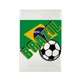 World Soccer BRAZIL Rectangle Magnet (100 pack)