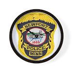 Newport MN Police Wall Clock