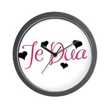 Te Dua Wall Clock