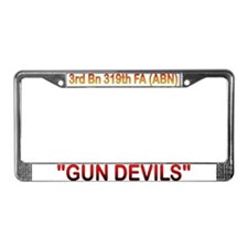 Army field artillery License Plate Frame