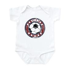 USA Soccer (distressed) Infant Bodysuit