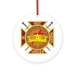 Masonic Knights Templar Ornament (Round)