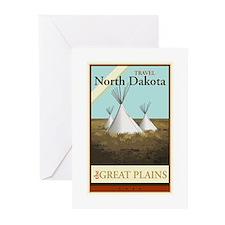 Travel North Dakota Greeting Cards (Pk of 10)