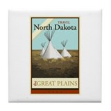 Travel North Dakota Tile Coaster