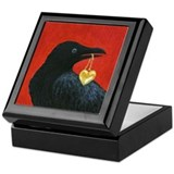 Valentine Crow Tile Trinket Box