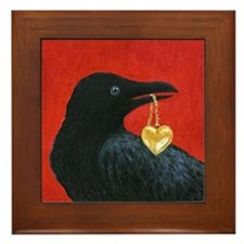 Valentine Crow Framed Art Tile