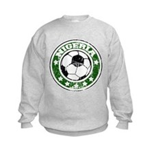 Nigeria Soccer (distressed) Sweatshirt