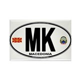 Macedonian Euro Oval Rectangle Magnet