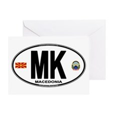 Macedonian Euro Oval Greeting Card
