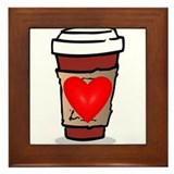 Love Coffee Framed Tile