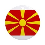 Macedonian Flag Ornament (Round)