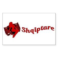 Une Jam Shqiptare Sticker (Rectangular)