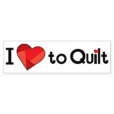 Love to Quilt Bumper Sticker